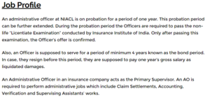 NIACL AO Salary Job Profile