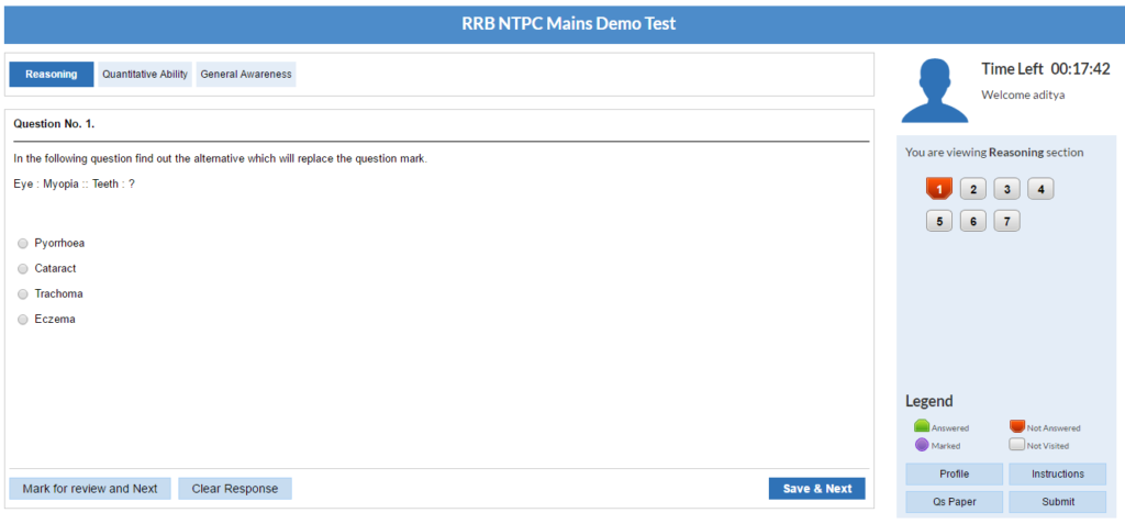 RRB NTPC Exam Pattern
