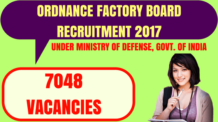 Ordnance Factory Board Recruitment