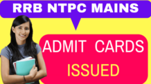 RRB NTPC Mains Call Letter