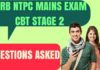 RRB NTPC Questions Asked