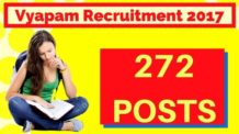 Vyapam Recruitment 2017