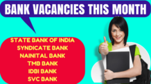Bank Vacancies This Month