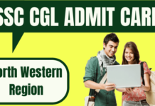 SSC CGL Admit Card North Western Region