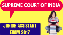 Supreme Court Junior Assistant Exam