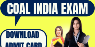 Coal India Limited Admit Card