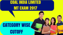 Coal India Limited MT Exam Cutoff