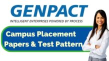 Genpact Placement Papers & Test Pattern