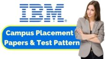 IBM Placement Papers & Test Pattern