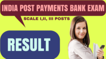 India Post Payments Bank Exam Result