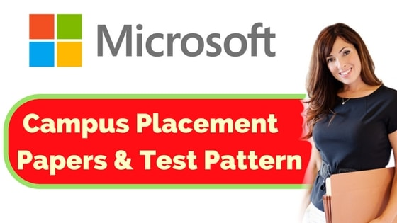 microsoft placement papers test pattern for 2017 2018