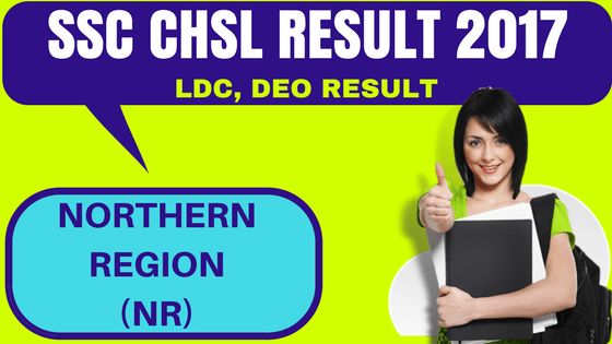 SSC CHSL Result Northern Region