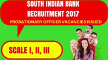 South Indian Bank Recruitment 2017