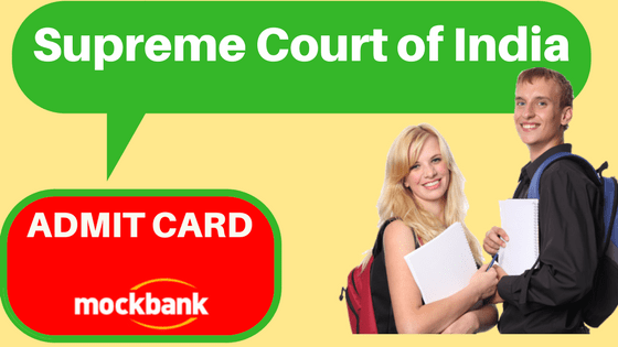 Supreme Court Junior Assistant Admit Card
