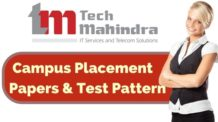 Tech Mahindra Placement Papers and Test Pattern