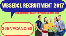 WBSEDCL RECRUITMENT 2017
