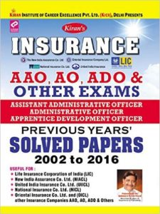 Insurance AAO, AO, ADO & Other Exams Previous Years Solved Papers - English
