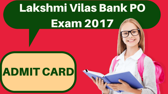 Lakshmi Vilas Bank Admit Card