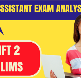 NIACL Assistant analysis )