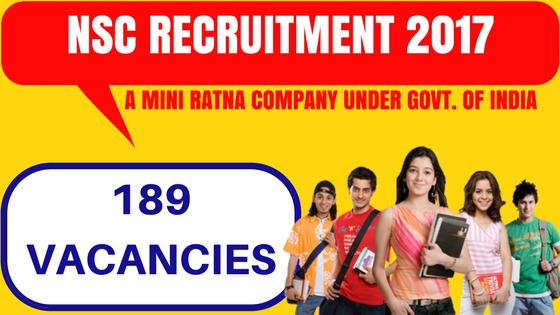 NSC Recruitment 2017