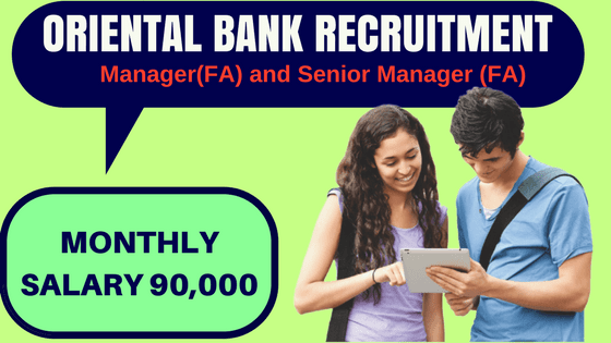 Oriental Bank Recruitment