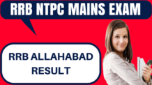 RRB NTPC Result Allahabad
