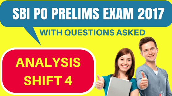 SBI PO exam analysis Shift 4