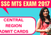 SSC MTS Admit Card Central Region