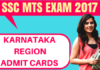 SSC MTS Admit Card Karnataka Kerela Region