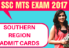 SSC MTS Admit Card Southern Region