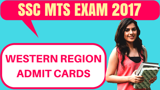 SSC MTS Admit Card Western Region