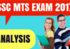 SSC MTS Exam Analysis