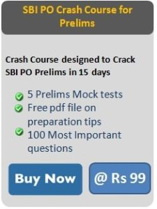 sbi po crash course