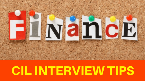 CIL Finance Interview