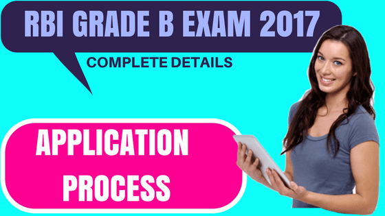 RBI Grade B Application 2017