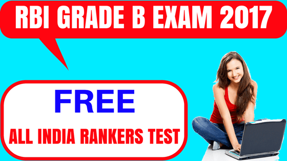 RBI Grade B Free Mock Test