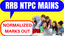RRB NTPC Normalized Marks Out