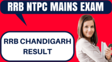 RRB NTPC Result Chandigarh