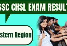 SSC CHSL Result Eastern Region