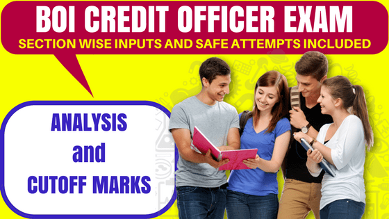 BOI Credit Officer Exam Analysis