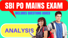 SBI PO Mains Exam Analysis 2017