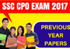 SSC CPO Previous year papers