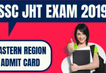 SSC JHT Admit Card Eastern Region