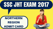 SSC JHT Admit Card Northern Region