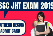 SSC JHT Admit Card Southern Region