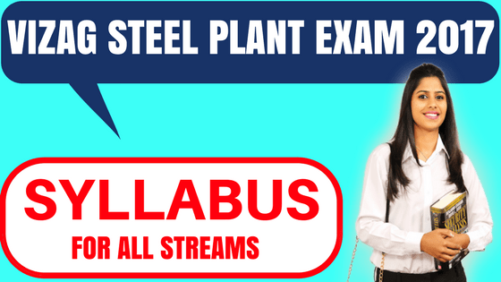 Vizag Steel Plant exam syllabus