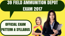39 Field Ammunition Depot Exam