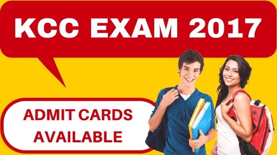 KCC Exam Admit Card