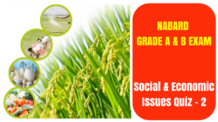NABARD Social & Economic Issues Quiz