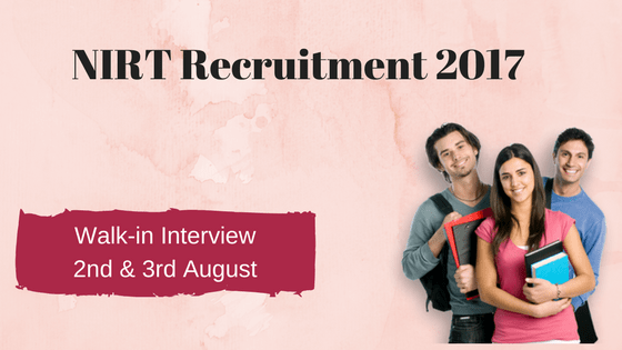 NIRT Recruitment 2017